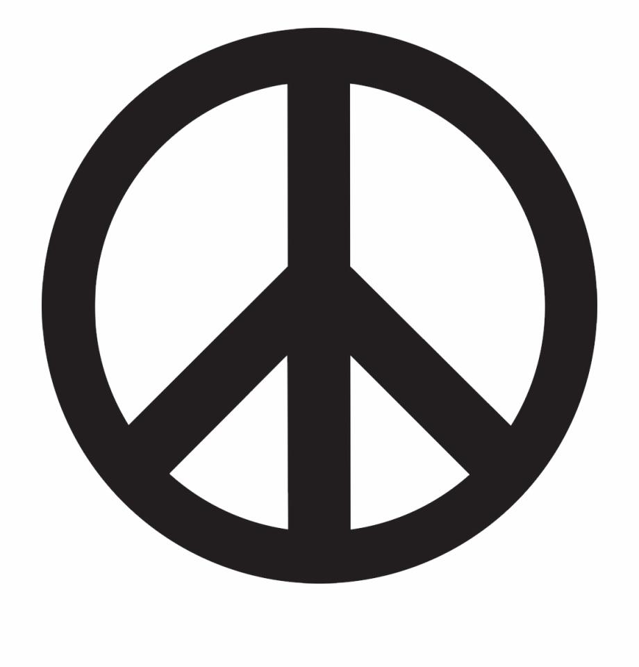 Symbol png sign black. Peace clipart peace logo