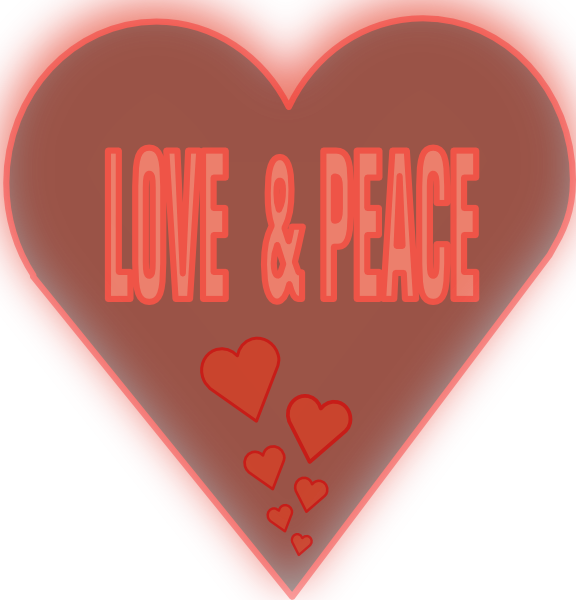 Peace clipart peace love. And in a heart