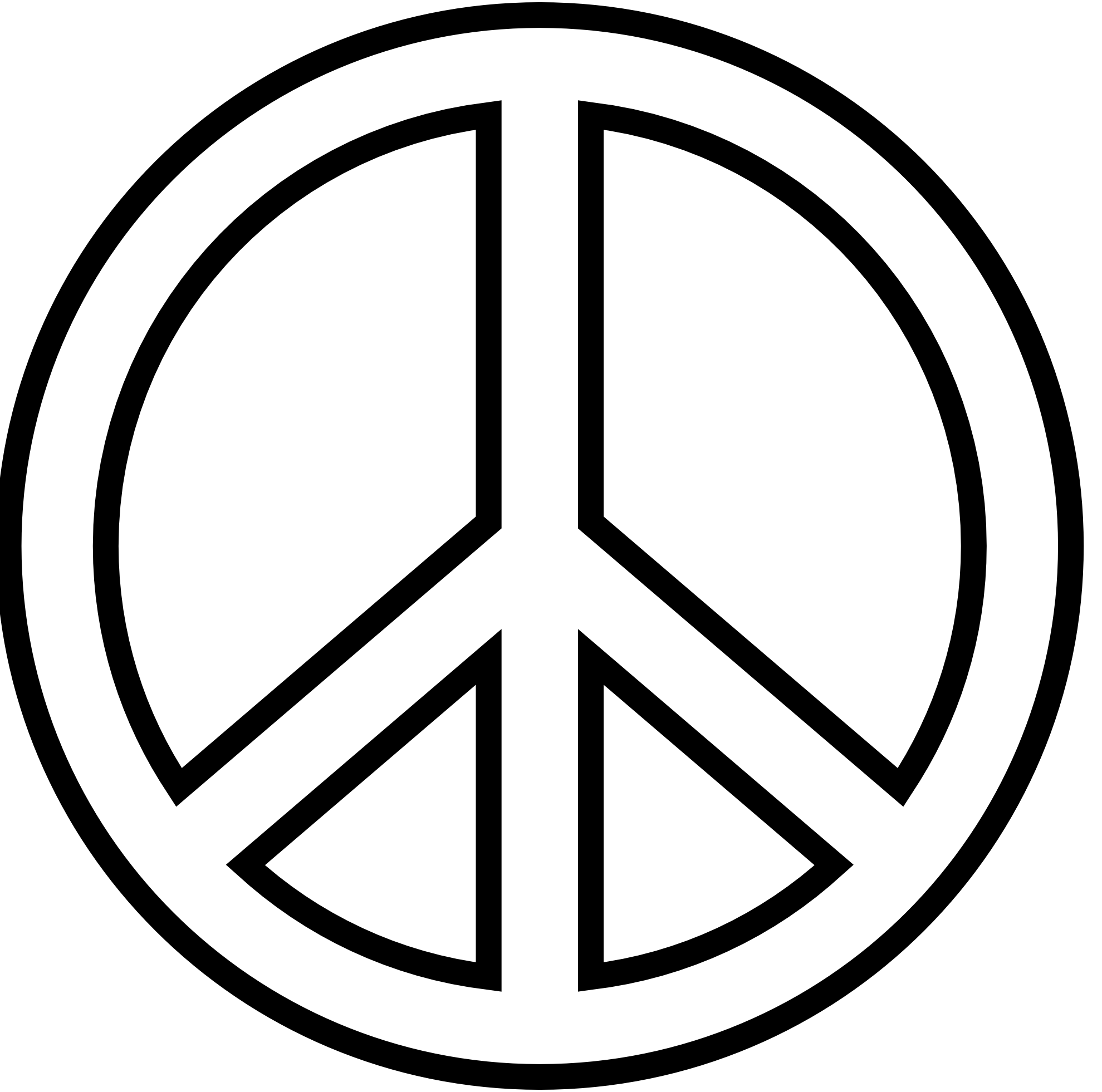 Words clipart peace. To the hippy van