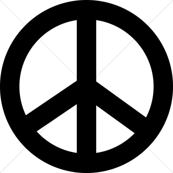 Peace clipart peace sign. Black symbol