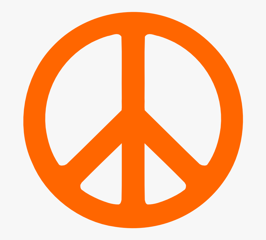 Traceable orange . Peace clipart peace sign