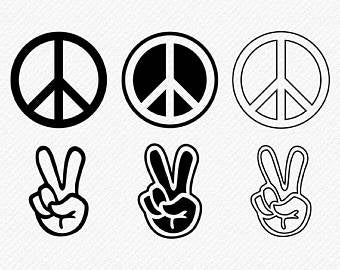 Peace clipart peace sign. Etsy