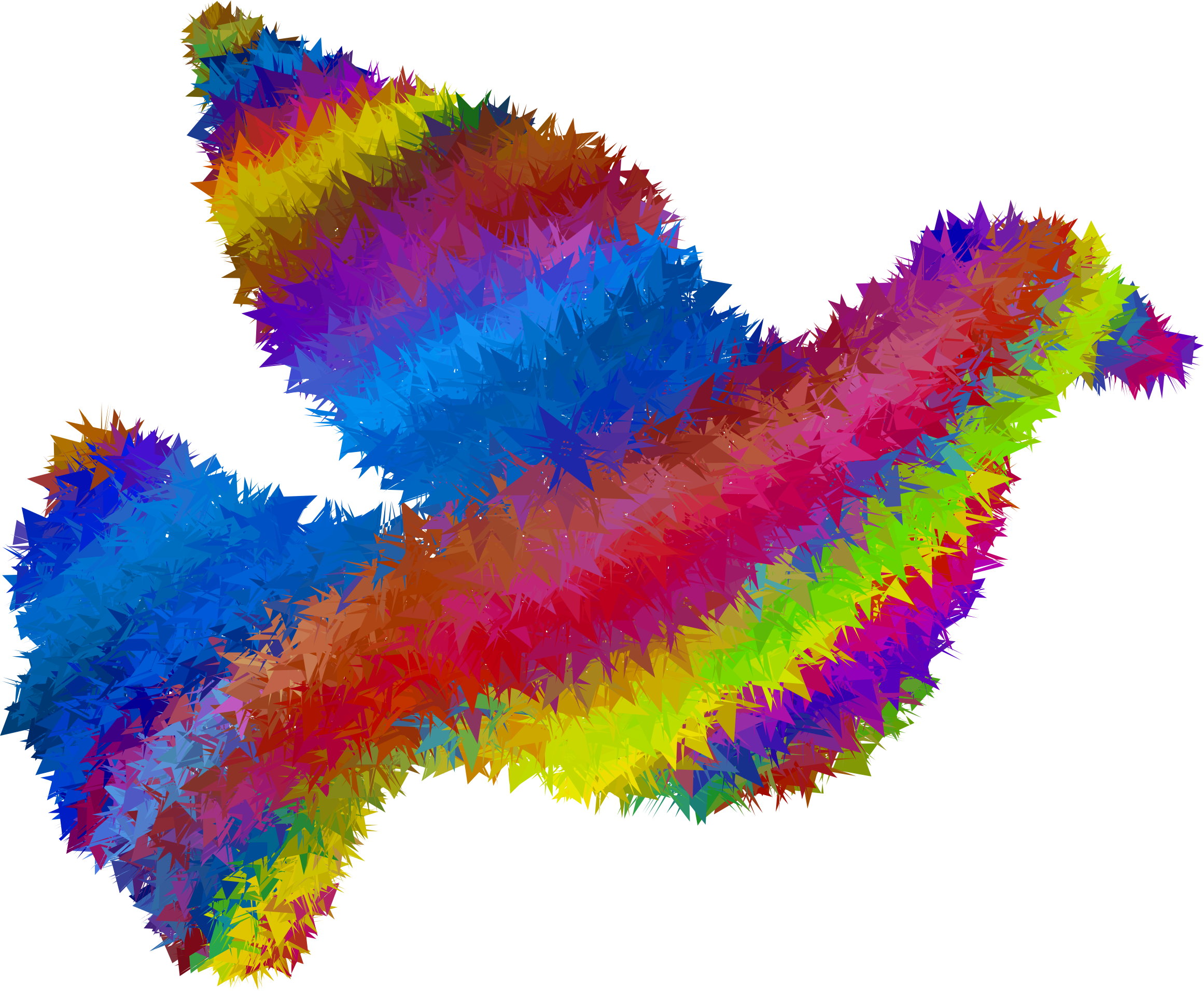 High poly dove icons. Peace clipart psychedelic flower