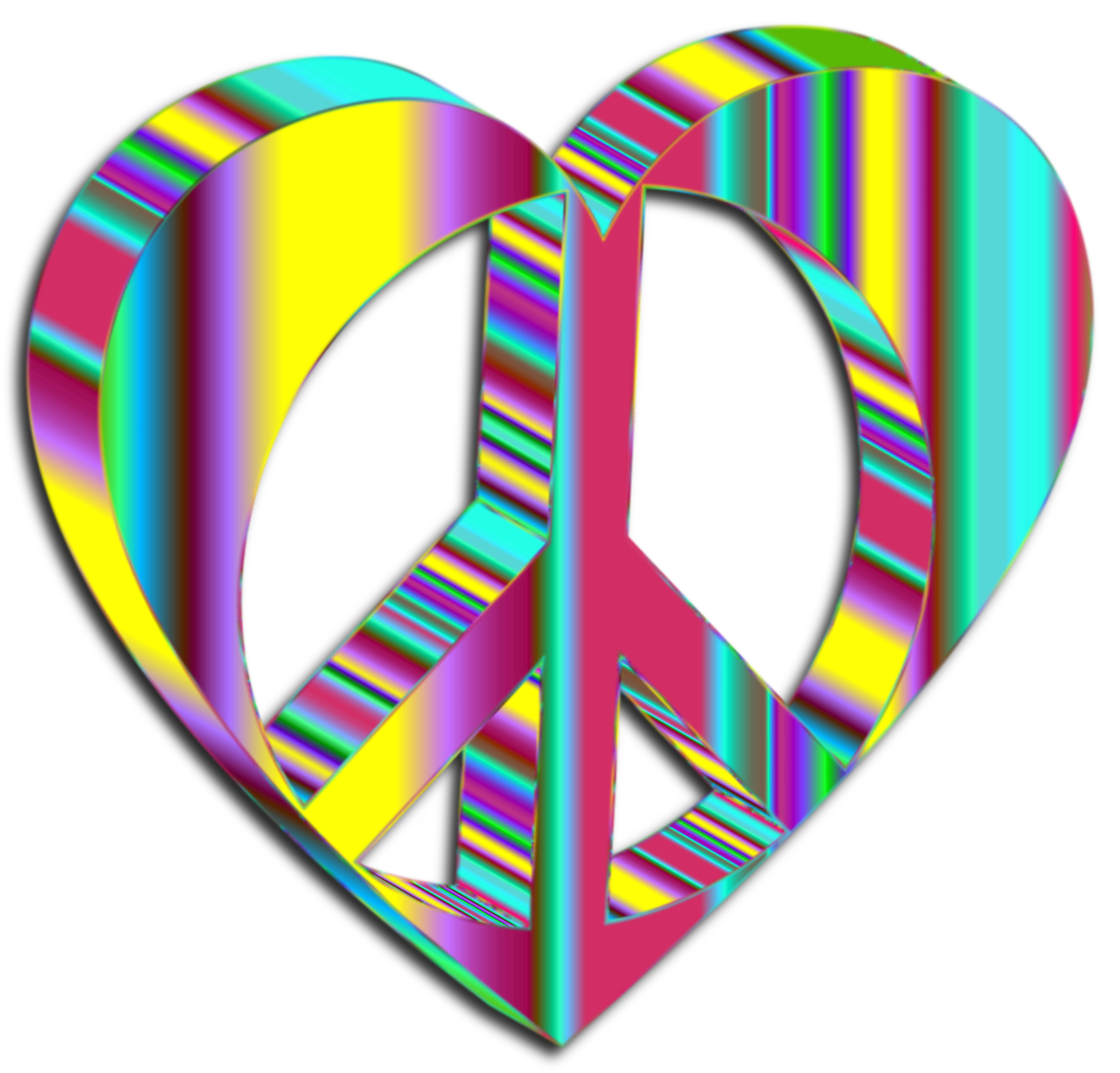 Peace clipart psychedelic flower.  d heart mark