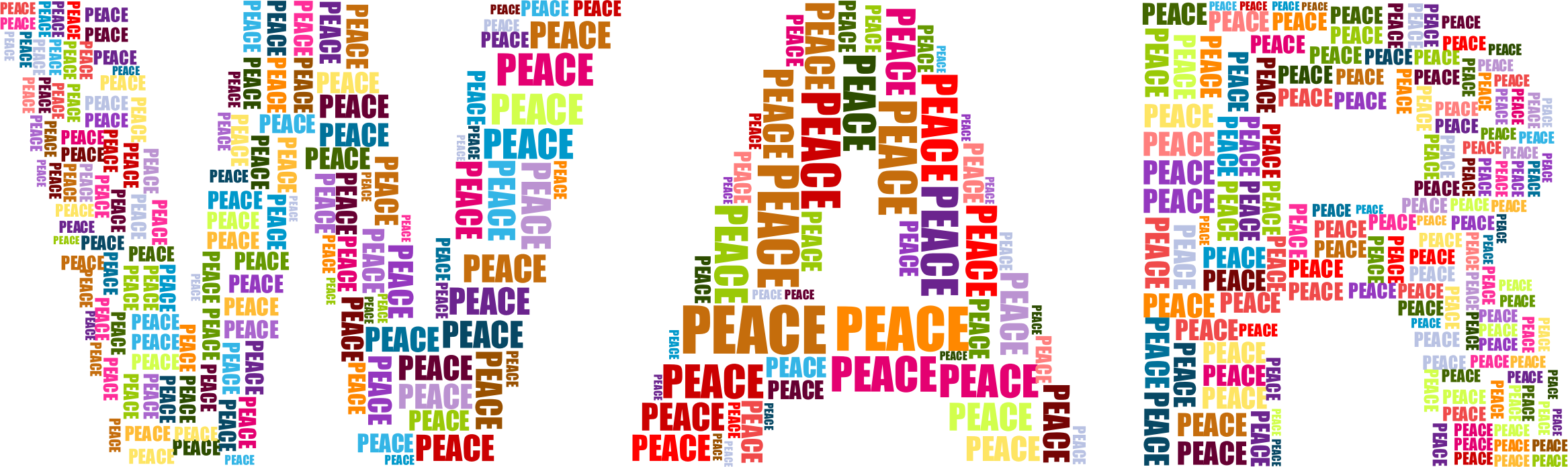 War and big image. Peace clipart word wisdom