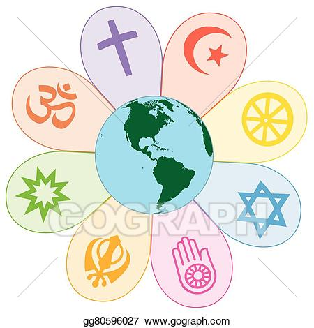 Vector art religions united. Peace clipart world drawing
