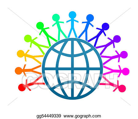 Stock illustration colorfull clip. Peace clipart world peace