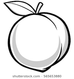 Station . Peach clipart black and white