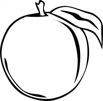 Peach clipart black and white. Panda free