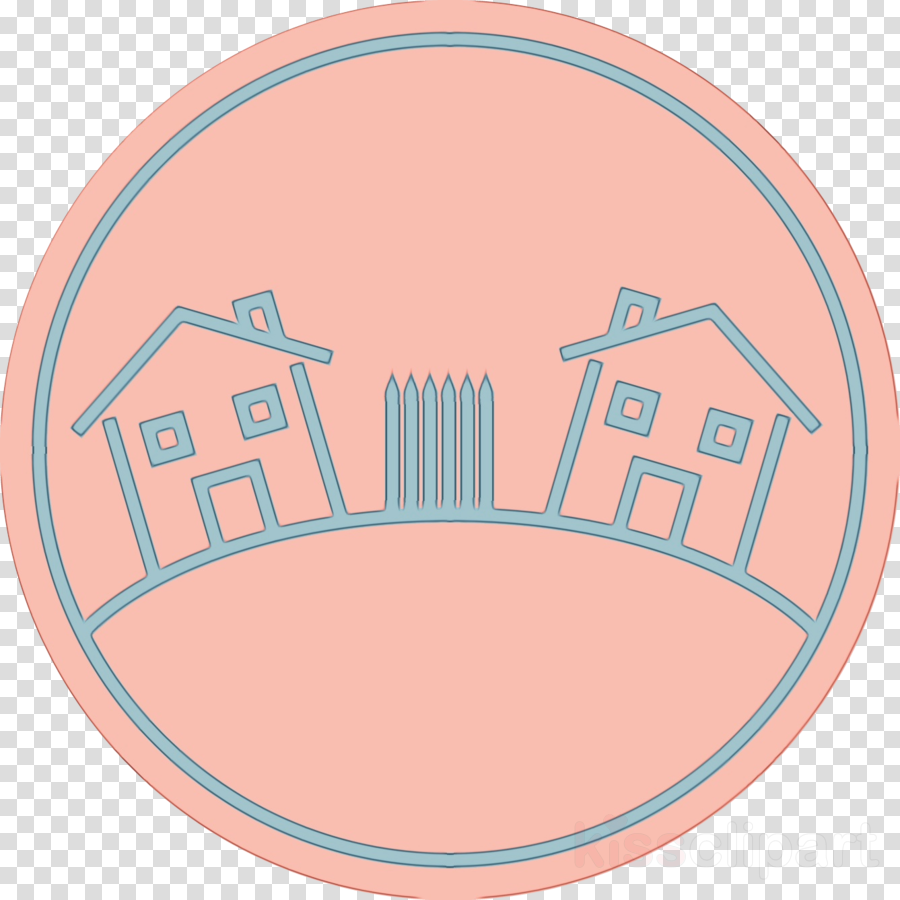 Peach clipart circle. Pink turquoise oval