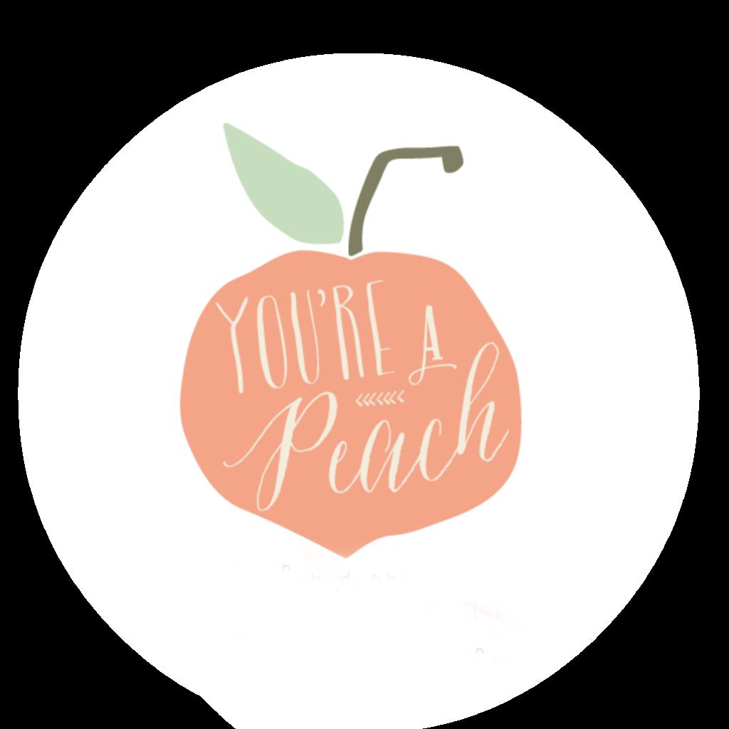 You re a gift. Peach clipart cute