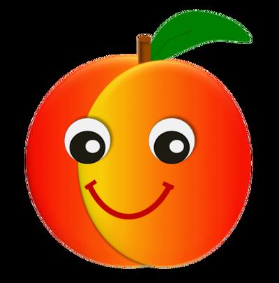 Peach clipart cute. Clip art library gclipart