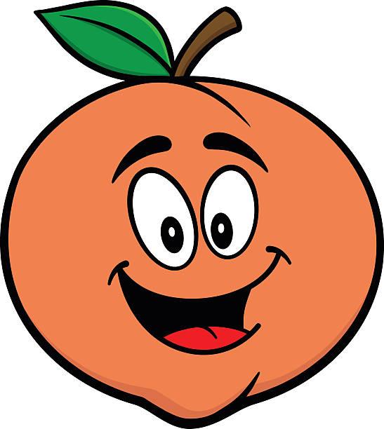 Peaches clipart cartoon. Peach pencil and in