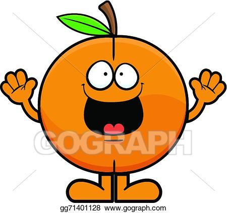 Vector cartoon illustration . Peach clipart happy
