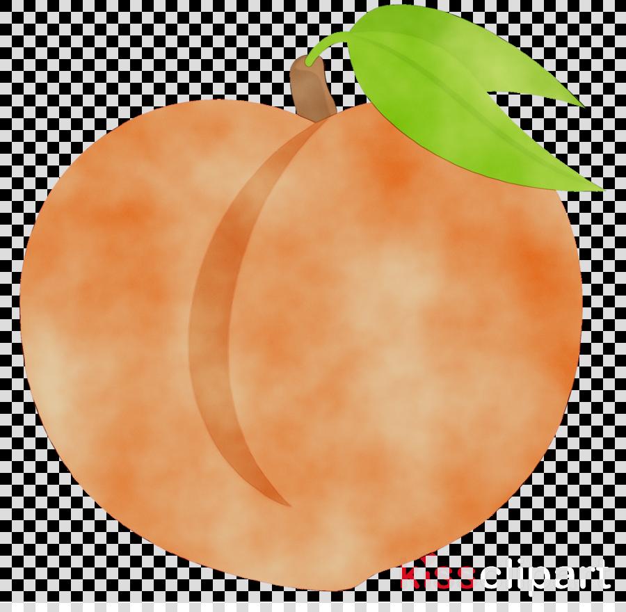 Tree fruit transparent clip. Peach clipart orange apple
