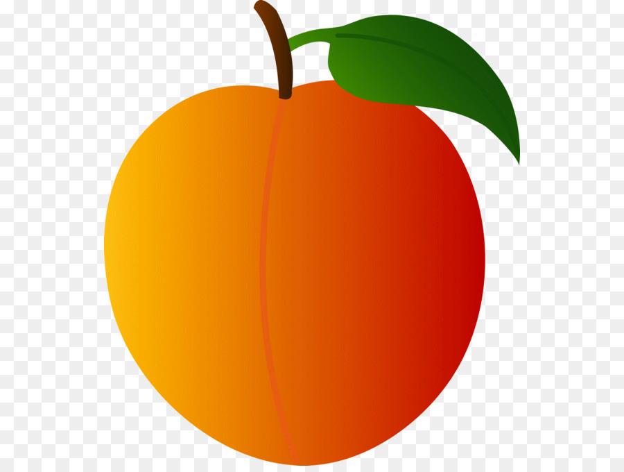 Apple leaf png download. Peach clipart orange food