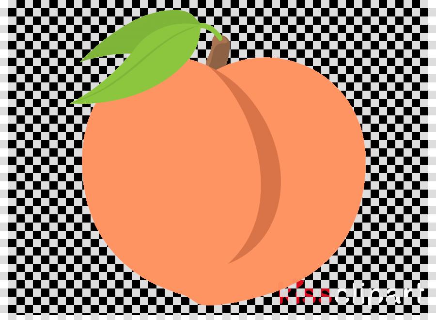 Apple cartoon fruit transparent. Peach clipart orange food