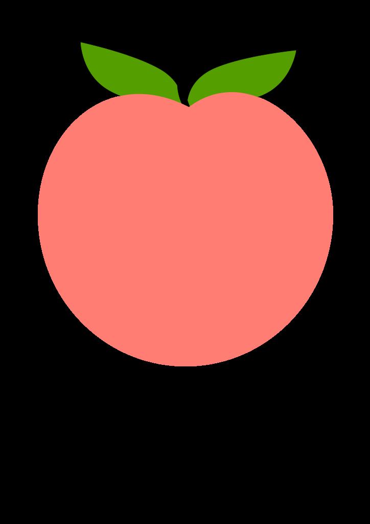 peach clipart peach leaf