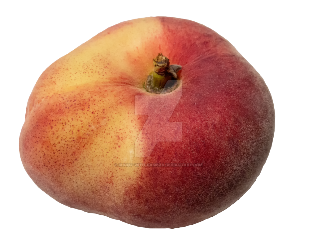 Peach clipart peach slice. Flat png by bunny