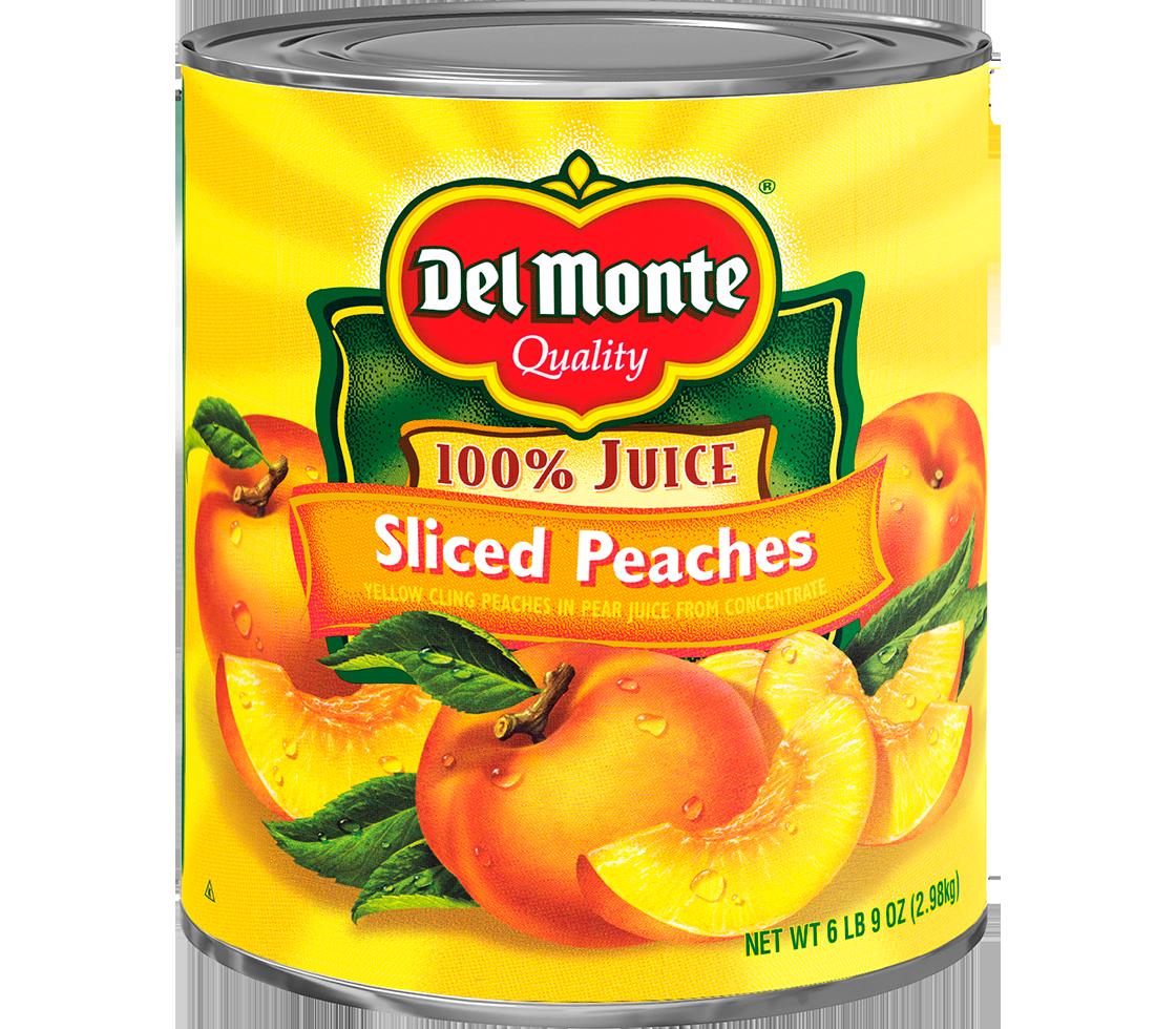 Peach clipart peach slice. Del monte diced yellow