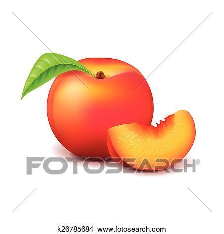Portal . Peach clipart peach slice