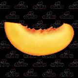 Peach clipart peach slice.