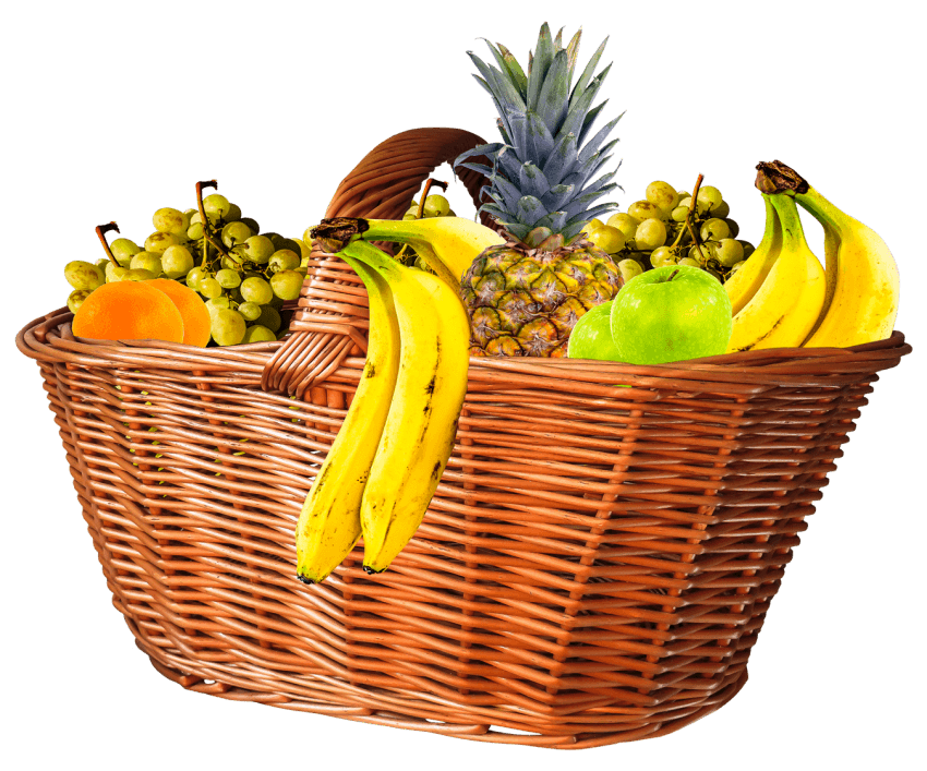 Basket png free images. Peach clipart ripe fruit