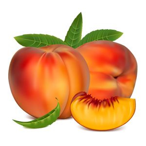 Romeo travel michigan painting. Peaches clipart ripe fruit