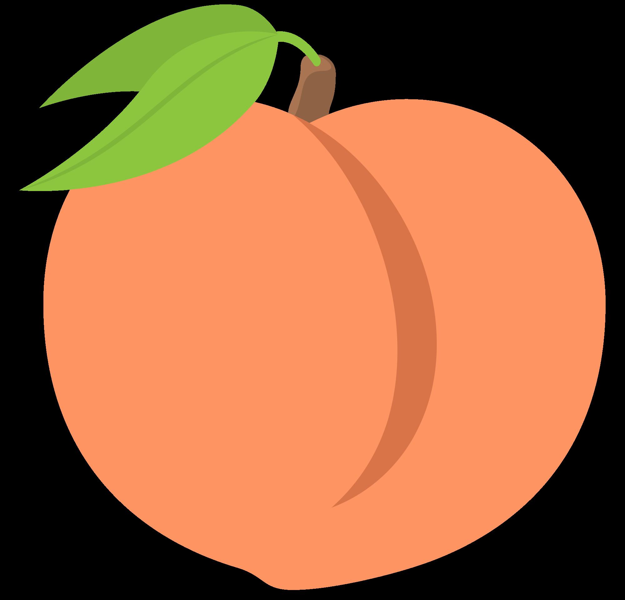 Peaches productions . Peach clipart svg