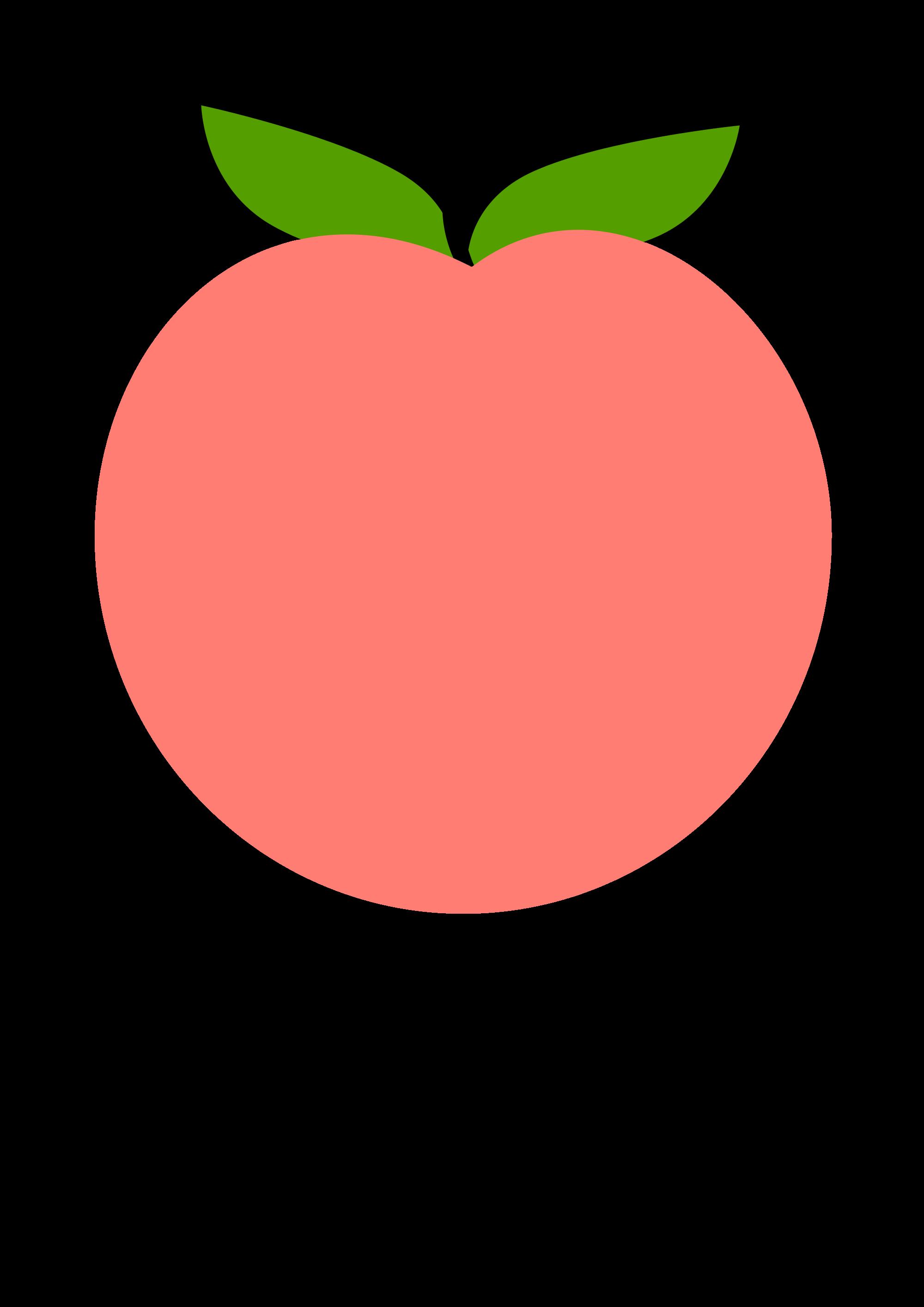 Peach clipart svg. File tux paint wikimedia