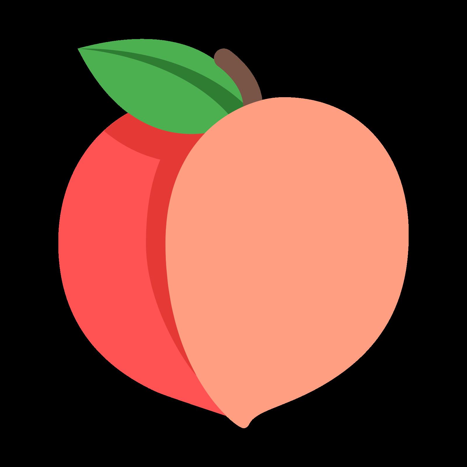 peach clipart transparent
