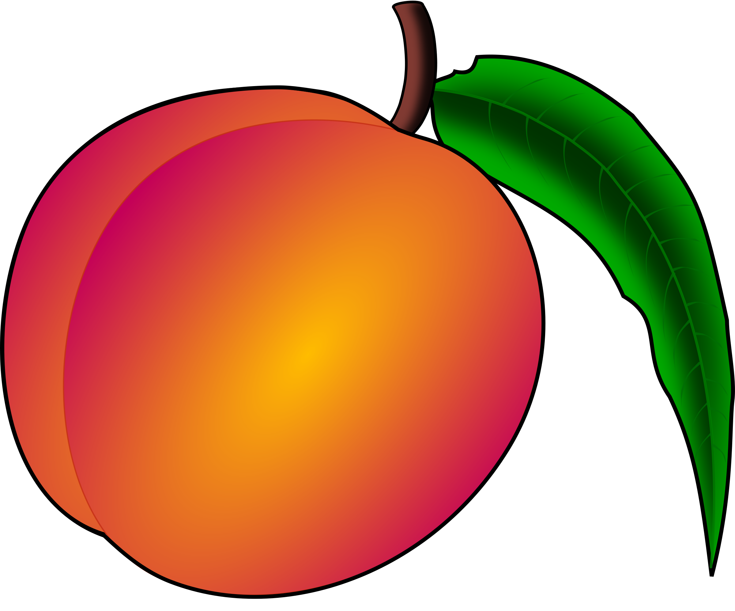 Peach clip art free. Watermelon clipart animated