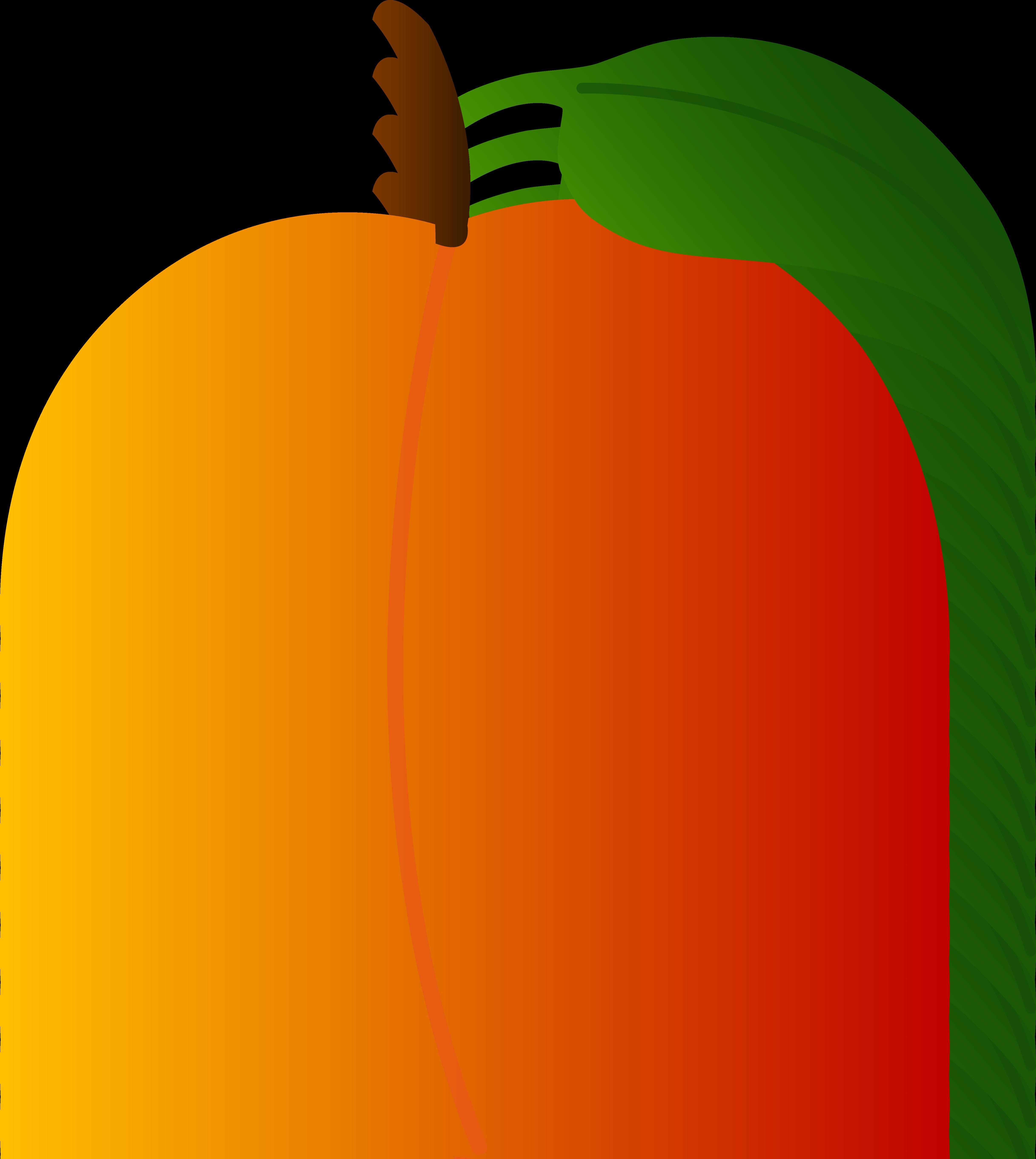 Peach clip art free. Fruits clipart orange