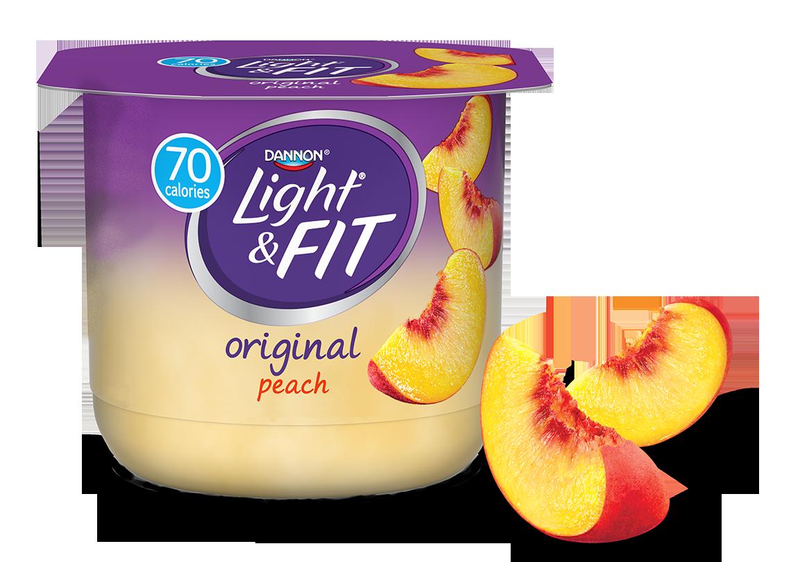 Peach nonfat light fit. Yogurt clipart low fat yogurt