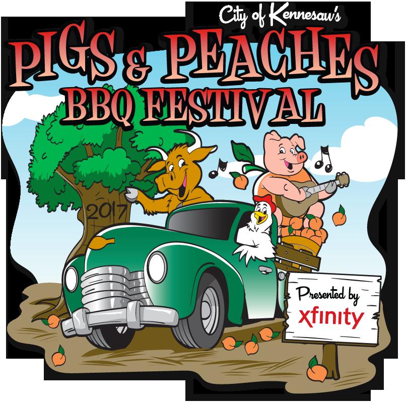 Pigs bbq event scoopotp. Peaches clipart peach atlanta
