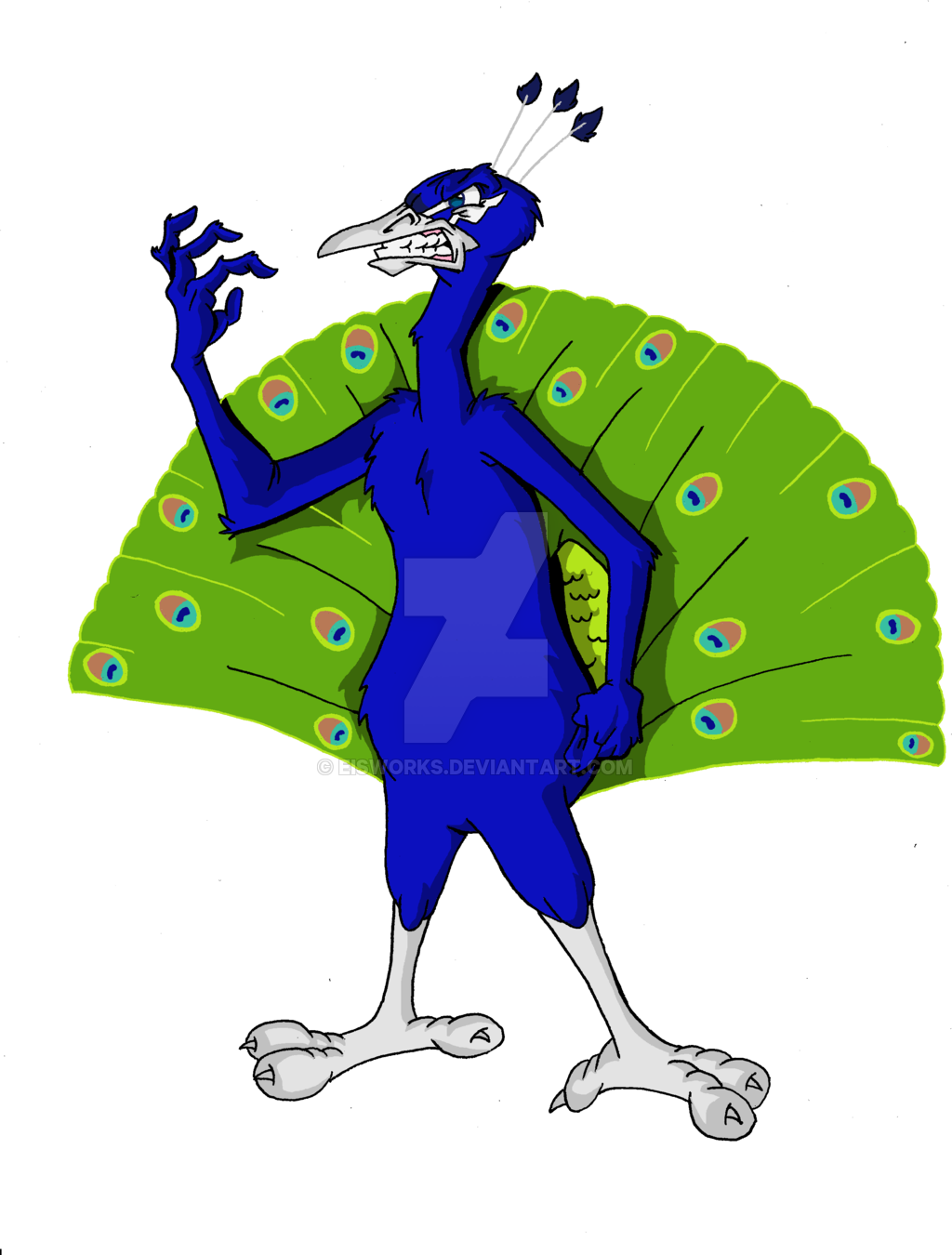 Free . Peacock clipart angry