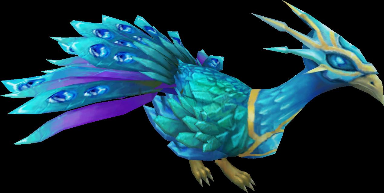 Pet clipart blue bird. Crystal peacock runescape wiki