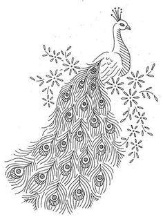 peacock clipart art deco