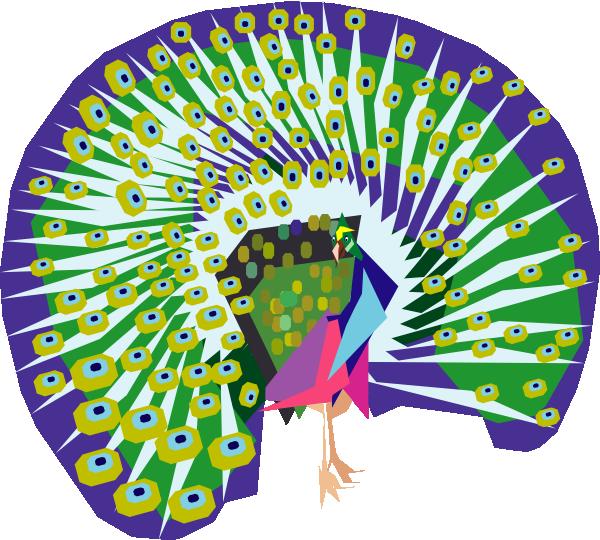 Cartoon at clker com. Peacock clipart clip art