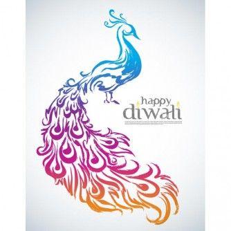 Peacock clipart deepavali. Free vector illustration of