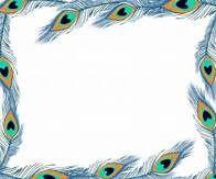 A borders yahoo image. Peacock clipart frame