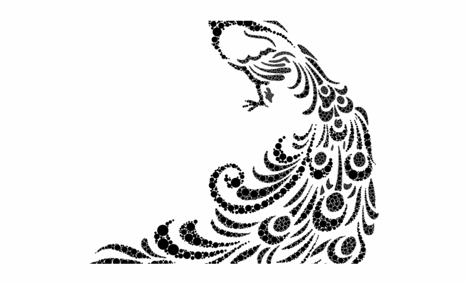 Peafowl stencil art transparent. Peacock clipart mor