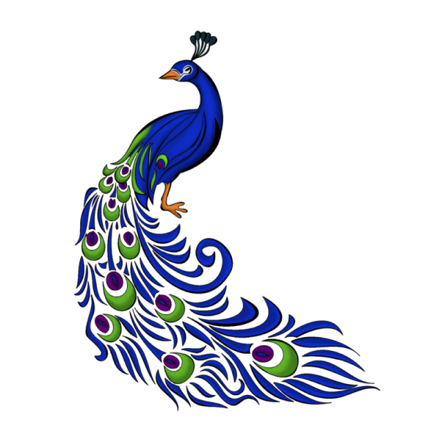 peacock clipart png format