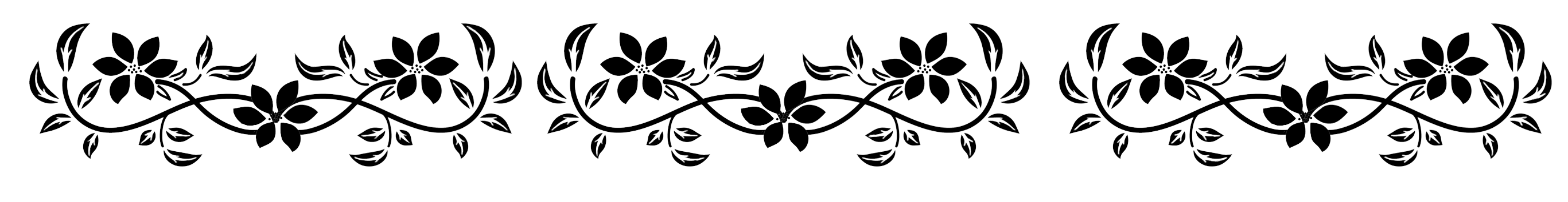 Flowers design huge wallpaper. Flower border black and white png