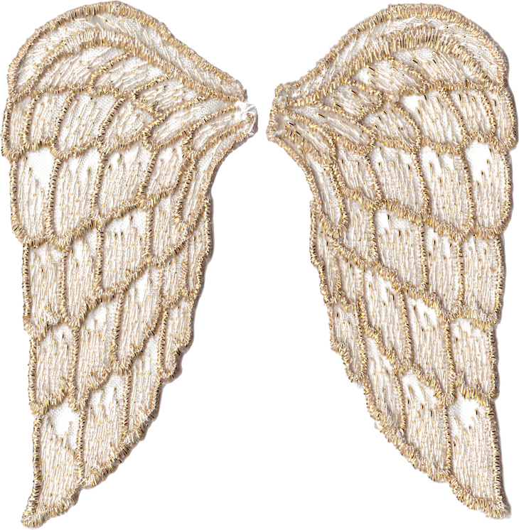 Golden angel wings free. Wing clipart printable