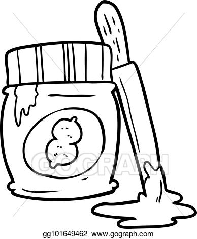 Eps illustration line of. Peanut clipart drawing
