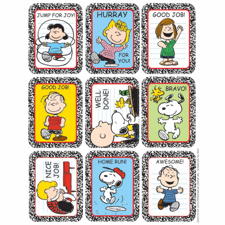 Peanuts motivational giant stickers. Peanut clipart teacher motivation