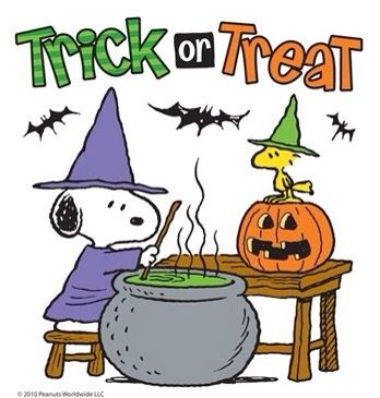 Snoopy halloween . Peanuts clipart trick or treat