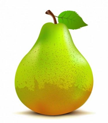 Fruit and vegetables clip. Pear clipart