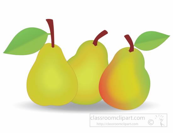 Pear clipart 3 fruit. Free fruits clip art